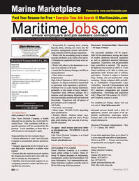 Marine News Magazine, page 60,  Dec 2013 CastineMaine Maritime Academy