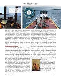 Marine News Magazine, page 39,  Jan 2014 MMA Simulation Department