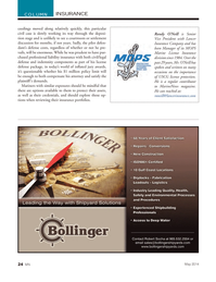Marine News Magazine, page 24,  May 2014 Lancer Insurance Company