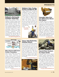 Marine News Magazine, page 71,  May 2014 stainless-steel fl oat