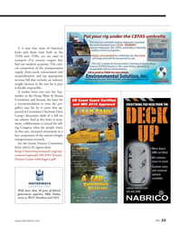 Marine News Magazine, page 23,  Jun 2014 Senate Finance Committee