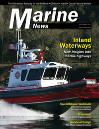 Marine News Magazine Cover Sep 2014 - Inland Waterways
