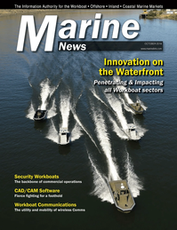 Marine News Magazine Cover Oct 2014 - Innovative Products & Boats - 2014