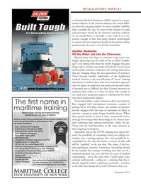 Marine News Magazine, page 4th Cover,  Nov 2014