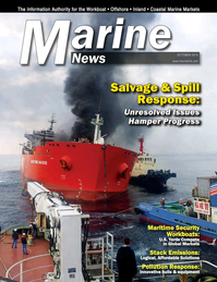 Marine News Magazine Cover Oct 2015 - Salvage & Spill Response