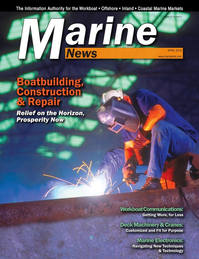 Marine News Magazine Cover Apr 2016 - Boatbuilding: Construction & Repair