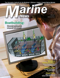Marine News Magazine Cover Apr 2017 - Boatbuilding: Construction & Repair