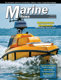 Marine News Magazine Cover Oct 2018 - Autonomous Workboats