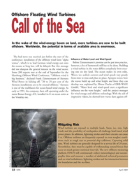 Marine Technology Magazine, page 22,  Apr 2005 ocean-based wind energy
