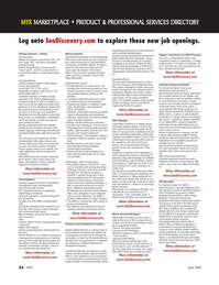 Marine Technology Magazine, page 62,  Apr 2005 GIS