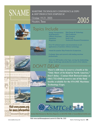 Marine Technology Magazine, page 14,  Jul 2005