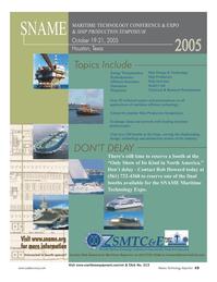 Marine Technology Magazine, page 14,  Jul 2005