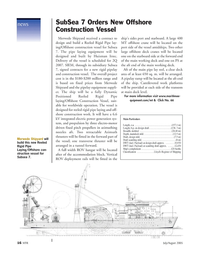 Marine Technology Magazine, page 15,  Jul 2005 Subsea 7