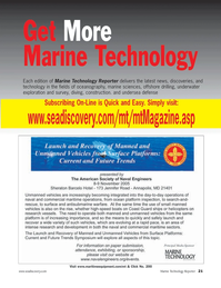Marine Technology Magazine, page 20,  Jul 2005