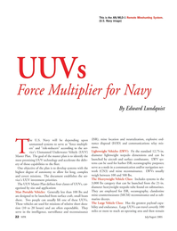 Marine Technology Magazine, page 21,  Jul 2005 Portable Vehicles