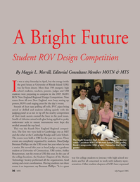 Marine Technology Magazine, page 35,  Jul 2005 Rhode Island