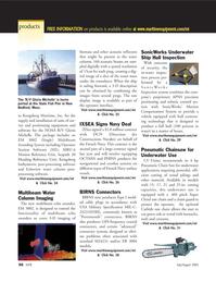 Marine Technology Magazine, page 55,  Jul 2005 Massachusetts
