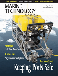 Marine Technology Magazine Cover Sep 2005 - Maritime Security & Undersea Defense