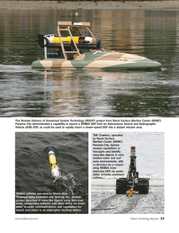 Marine Technology Magazine, page 23,  Sep 2005 REMUS mine
