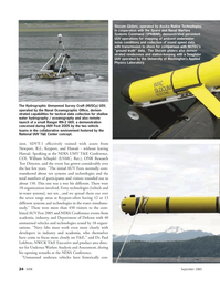 Marine Technology Magazine, page 24,  Sep 2005 William Schopfel
