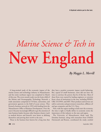 Marine Technology Magazine, page 26,  Sep 2005 Massachusetts office of Business Development