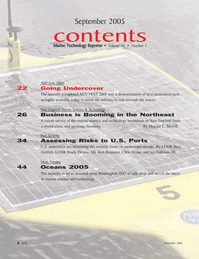 Marine Technology Magazine, page 2,  Sep 2005 Joe DiRenzo III
