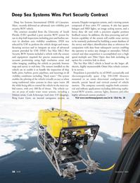 Marine Technology Magazine, page 38,  Sep 2005 South Florida