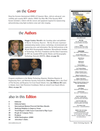 Marine Technology Magazine, page 3,  Sep 2005