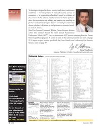 Marine Technology Magazine, page 4,  Sep 2005 46 Shark Marine Technologies