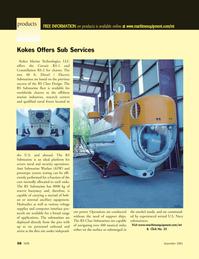 Marine Technology Magazine, page 58,  Sep 2005 dive site