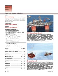 Marine Technology Magazine, page 64,  Sep 2005 California