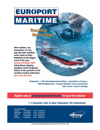 Marine Technology Magazine, page 3rd Cover,  Sep 2005 Netherlands