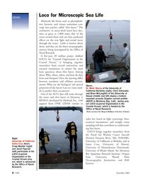 Marine Technology Magazine, page 8,  Nov 2005 Woods Hole