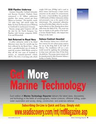 Marine Technology Magazine, page 9,  Nov 2005 West Coast of Scotland