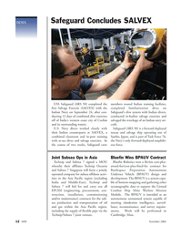 Marine Technology Magazine, page 12,  Nov 2005 Navy