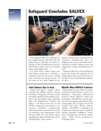 Marine Technology Magazine, page 12,  Nov 2005 Navy