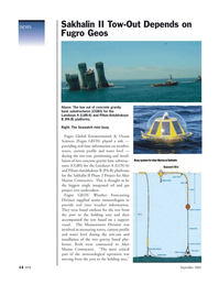 Marine Technology Magazine, page 14,  Nov 2005 oil and gas project