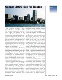 Marine Technology Magazine, page 17,  Nov 2005 New England