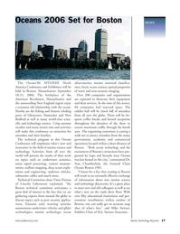 Marine Technology Magazine, page 17,  Nov 2005 New England