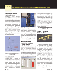 Marine Technology Magazine, page 58,  Nov 2005 coastal survey management solution