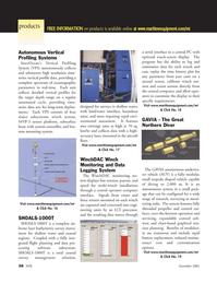 Marine Technology Magazine, page 58,  Nov 2005 coastal survey management solution
