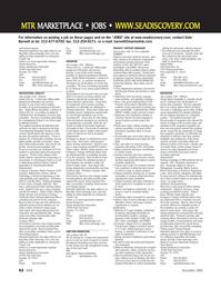 Marine Technology Magazine, page 62,  Nov 2005 Florida