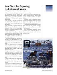 Marine Technology Magazine, page 9,  Jan 2006 Pacific Ocean