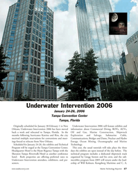 Marine Technology Magazine, page 17,  Jan 2006 Sheraton Tampa Riverwalk Hotel