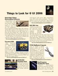 Marine Technology Magazine, page 19,  Jan 2006 video systems