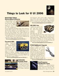 Marine Technology Magazine, page 19,  Jan 2006 video systems
