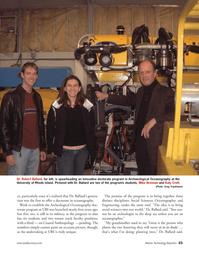 Marine Technology Magazine, page 23,  Jan 2006 Katy Croft