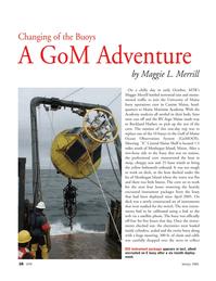 Marine Technology Magazine, page 28,  Jan 2006 Maggie Merrill