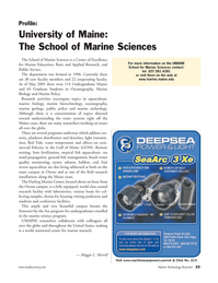 Marine Technology Magazine, page 33,  Jan 2006 Maggie L. Merrill