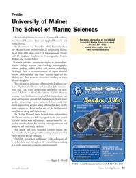 Marine Technology Magazine, page 33,  Jan 2006 Maggie L. Merrill